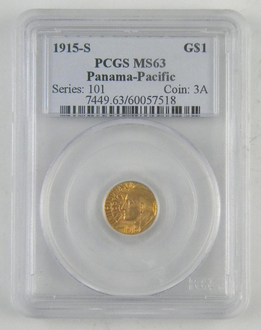 16D: 1915 S Panama Pacific $1 Gold Coin   MS63