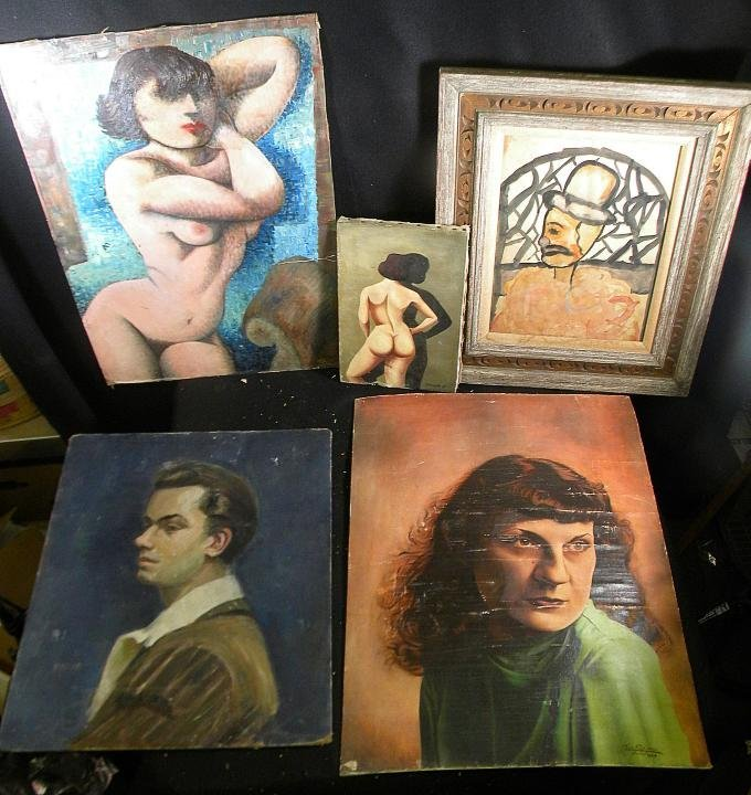 15A: Storage Lot Artwork Incl. Impressionist Female Nud