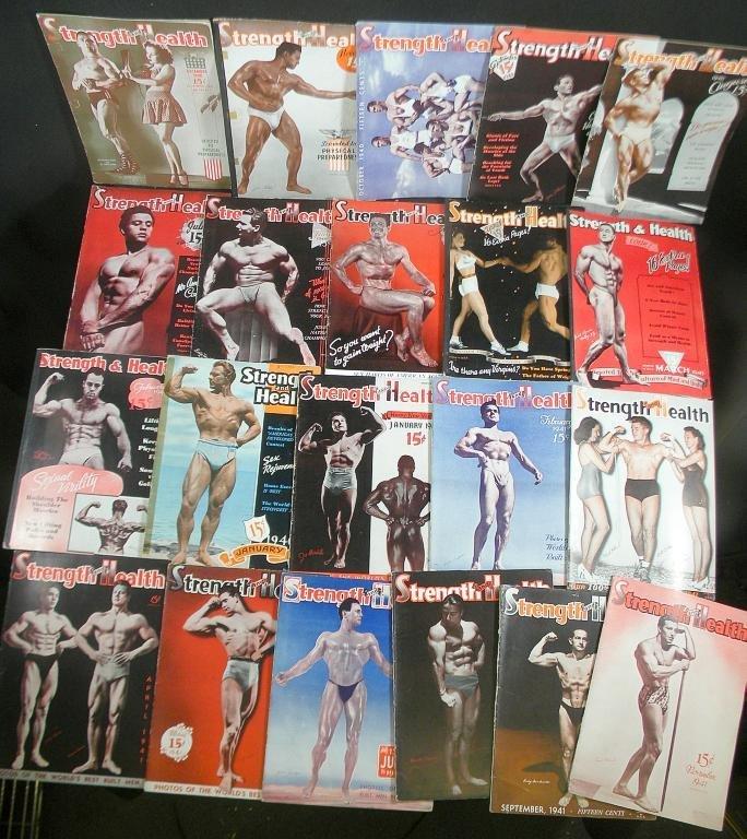 2: (23) 1940 & 1941 STRENGTH & HEALTH Magazines