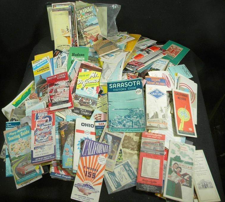 6: Huge Lot of Older Travel Brochures & Booklets Mostly