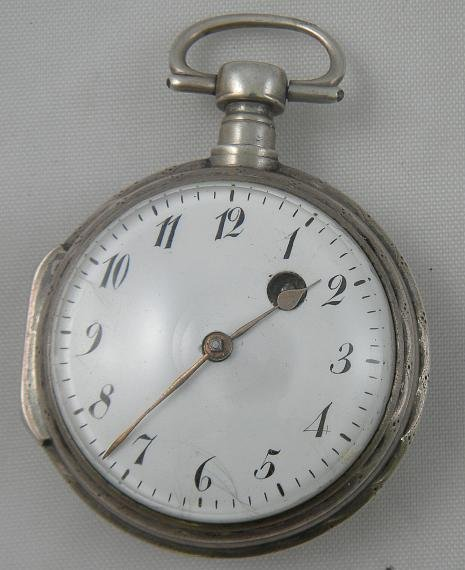 19I: SILVER French VERGE Pocket Watch Circa Late 1700's