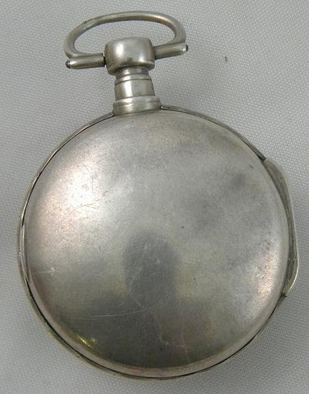 19I: SILVER French VERGE Pocket Watch Circa Late 1700's - 2