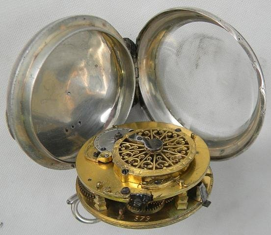 19I: SILVER French VERGE Pocket Watch Circa Late 1700's - 5