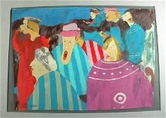 """188: LUIS CHAN Portfolio of 11 """"CITY LIFE"""" Paintings b"""