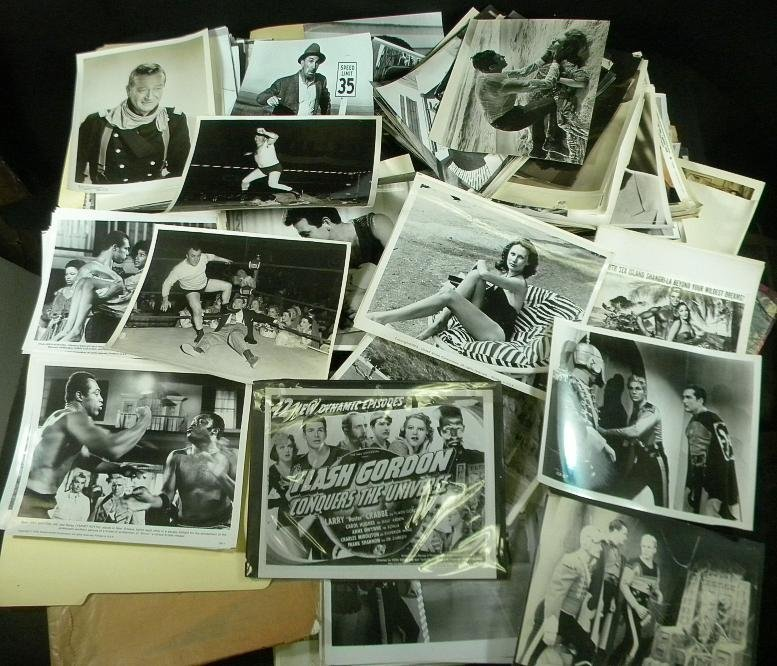 3A: Big Lot Old MOVIE PRESS Photographs & Related Mater