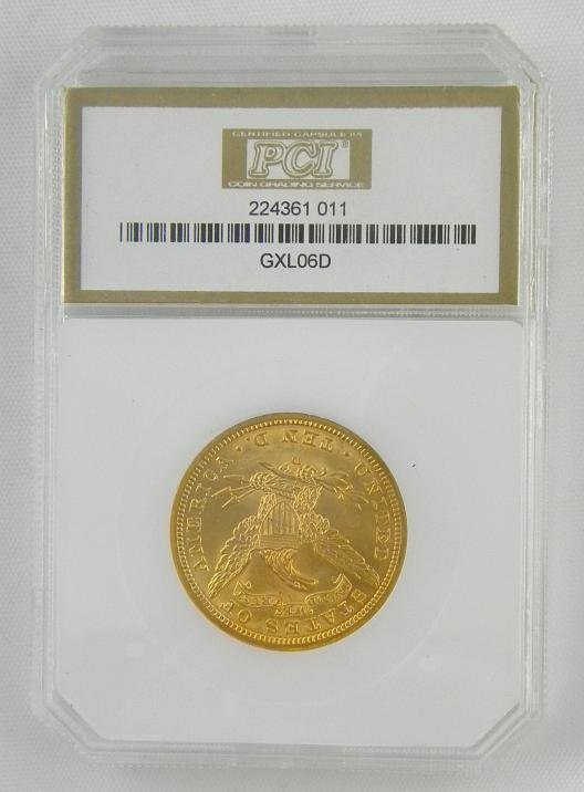 195: Certified 1906 D $10 LIBERTY GOLD COIN  MS63 - 3