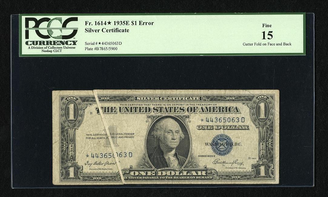 1A: Fr. 1614* $1 1935E Silver Certificate. PCGS Fine 15