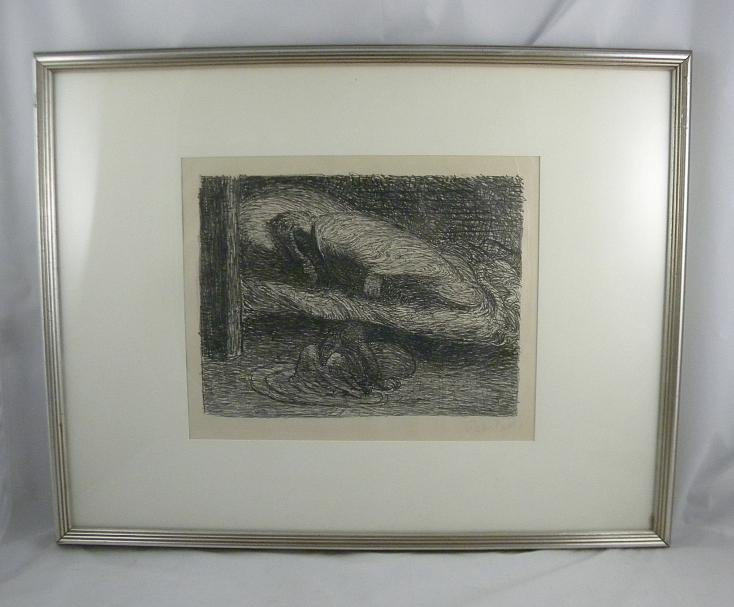 5: ERNST BARLACH SIGNED LITHOGRAPH TITLED TRAUMENDER JU