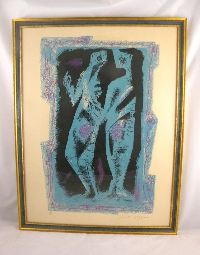 10: ANDRE MASSON MID CENTURY LITHOGRAPH TITLED DEUX PER