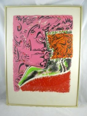 11: ANDRE MASSON MID CENTURY COLOR LITHO UNTITLED, CIRC