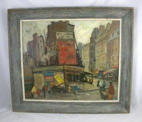 16: CIRCA 1940'S O/C IMPRESSIONIST PARIS STREET SCENE,