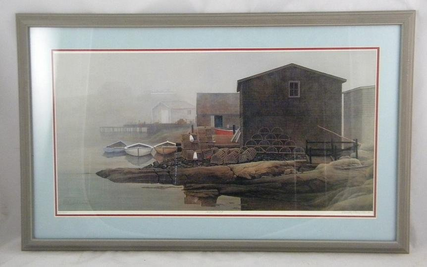 20: DAVID KNOWLTON SIGNED PRINT TITLED PEGGY'S COVE, NU