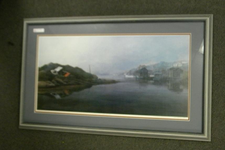 21: DAVID KNOWLTON SIGNED PRINT TITLED DRY DOCKED, NICE