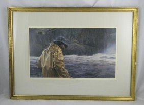 22: DON STONE SIGNED PRINT TITLED THE STERN MAN. NUMBER