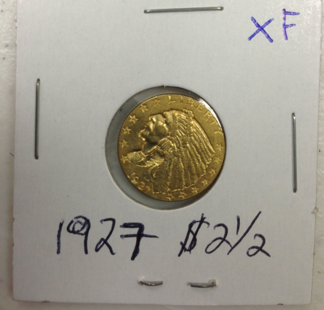 1927 $2.50 Indian Gold Coin XF