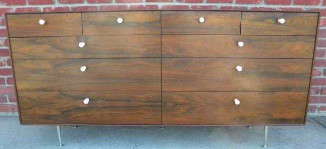 George Nelson 10 Drawer Thin Edge Rosewood Dresser, des