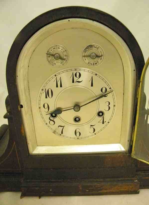 Antique JUNGHANS Westminster Chime Large MANTLE CLOCK - 2