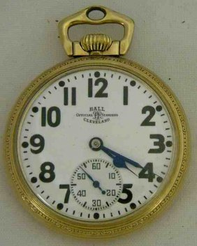 BALL 23 Jewel Official Standard Railroad Pocket Watch