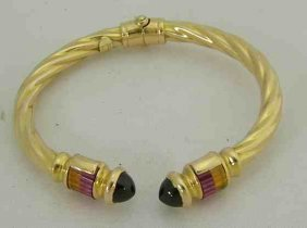 14K Ladies Bracelet with Semi Precious Stones