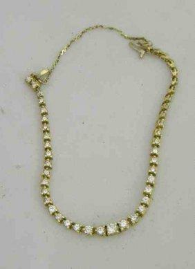 10K Ladies Bracelet With Diamonds