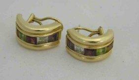 14K Earrings with Semi Precious Stones