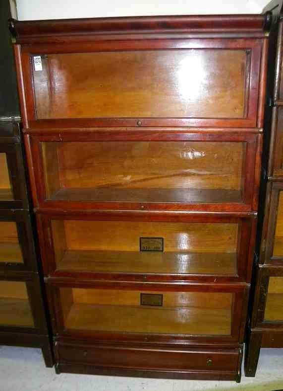 4 Stack Globe Wernicke Cherry Barrister Bookcase