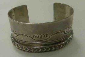 Sterling Bracelet Artist Signed 1975 2.95 oz. Santo Dom