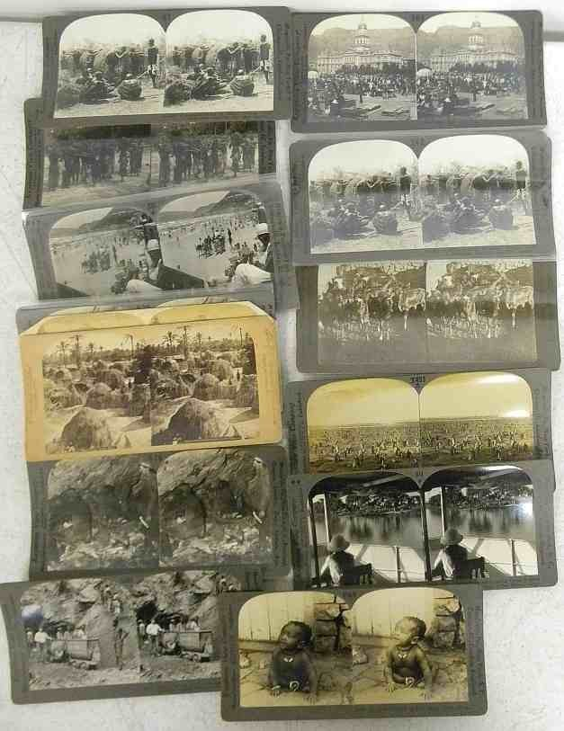 19 Real Photo African Stereo View Cards