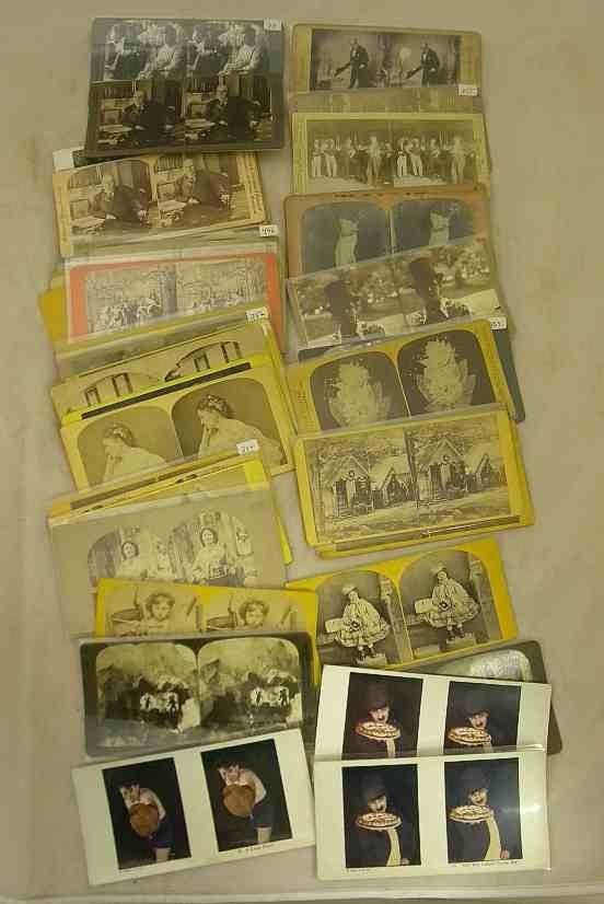 49 Stereo Views of People 45 Real Photo & 4 Lithos