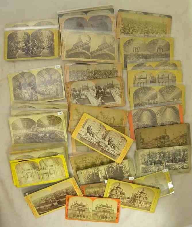 65 EXPOSITION Stereo View Cards All Real Photo, nice ov