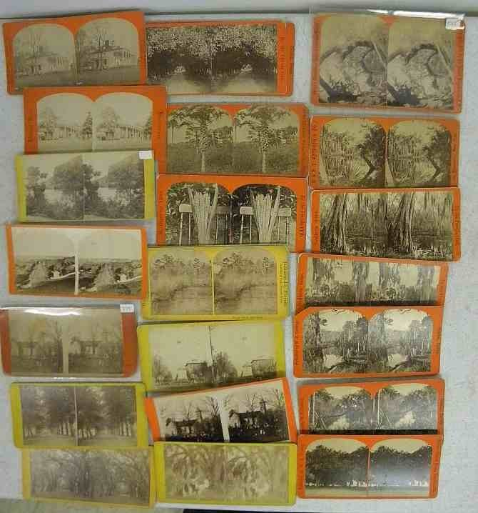 23 Florida Virginia Georgia Real Photo Stereo Views