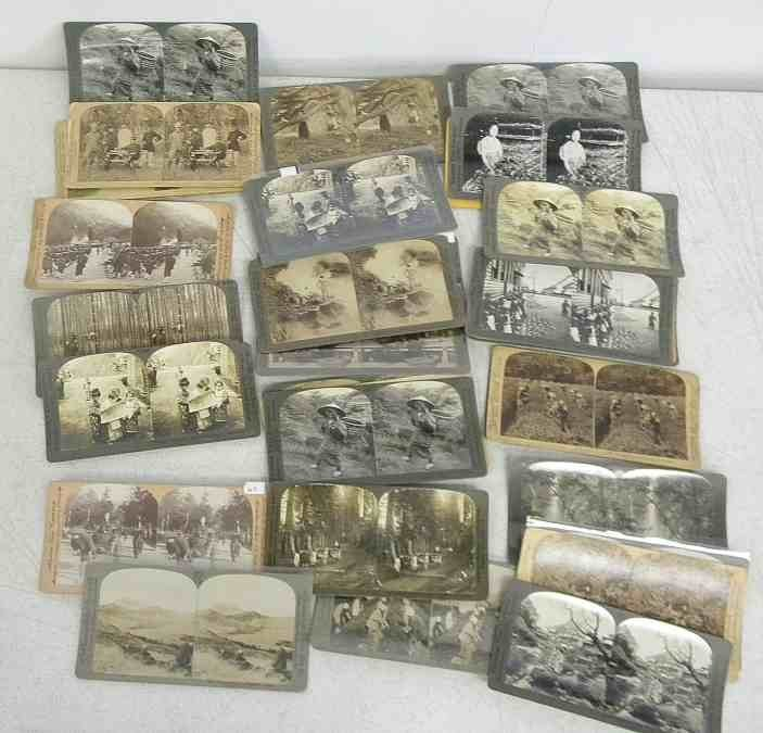 35 China & Japan Real Photo Stereo Views