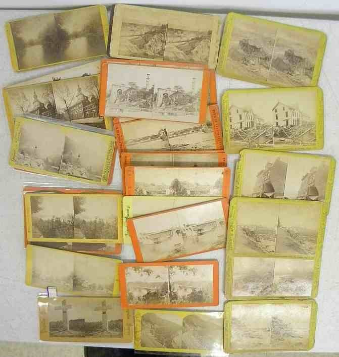 31 Pennsylvania Real Photo Stereo Cards