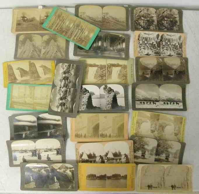 30 Real Photo Canada Stereo Cards including nice scenic