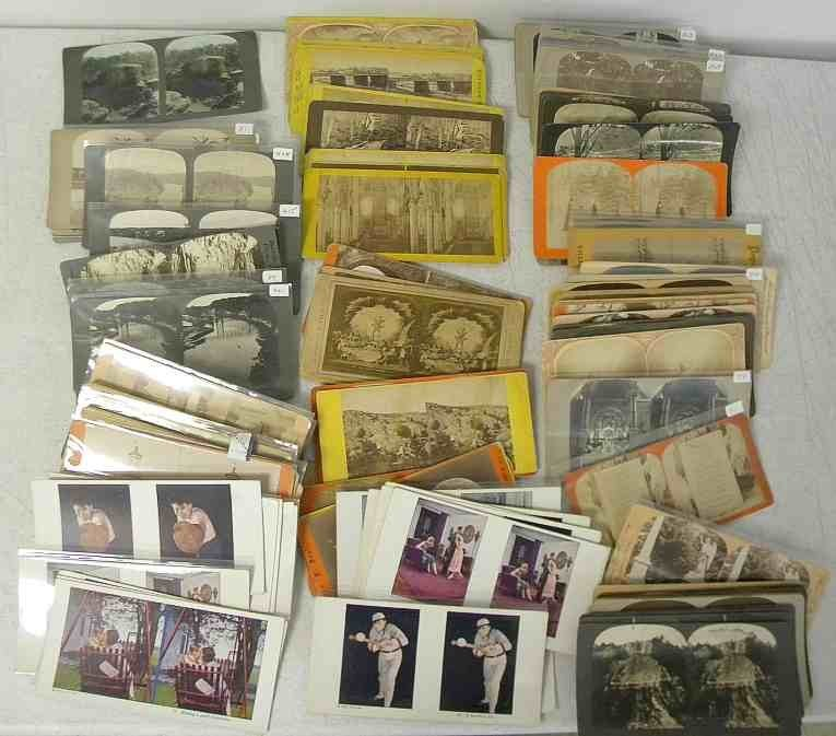 110 Misc. Stereo Cards 88 Real Photo 22 Lithos. Good mi