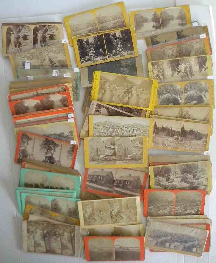 95 Mass. Ct. Rhode Island & NH Stereoview Cards, all Re