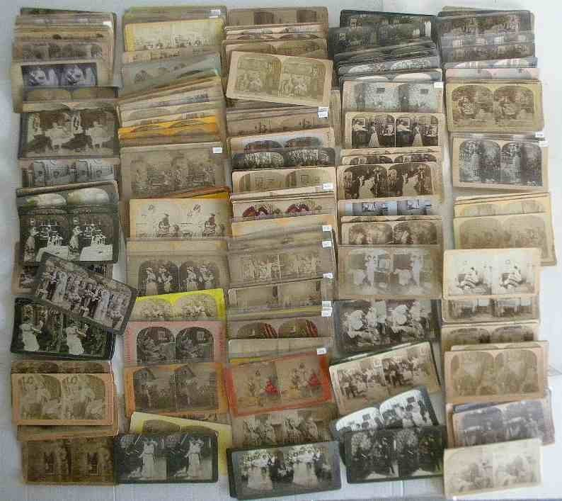 229 Mixed Genre Stereoviews All Real Photo, no lithos,