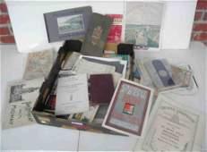 Boxlot Misc Early Travel Ephemera Booklets Etc