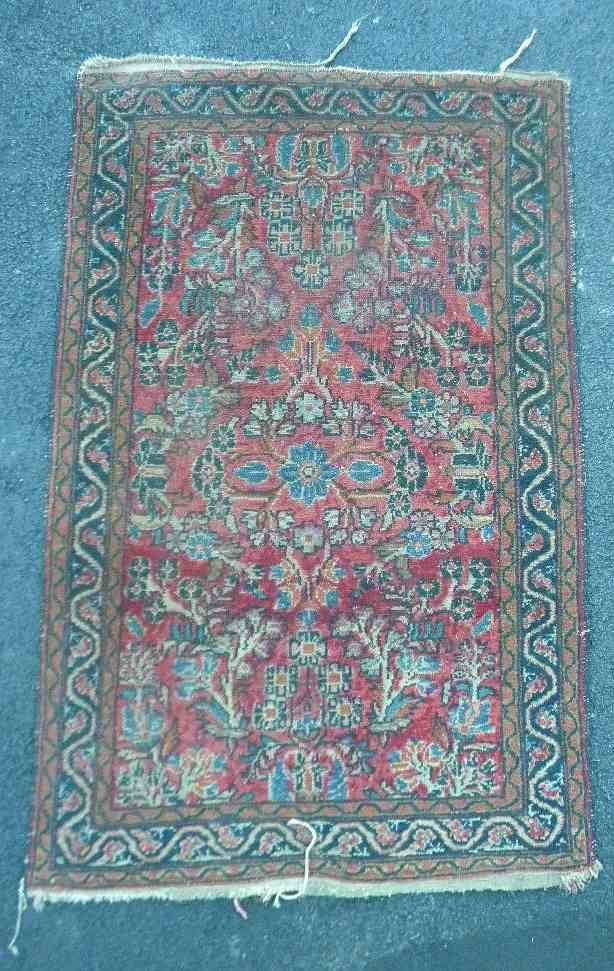 "Estate Older Handmade Oriental Rug 47"" x 30"""