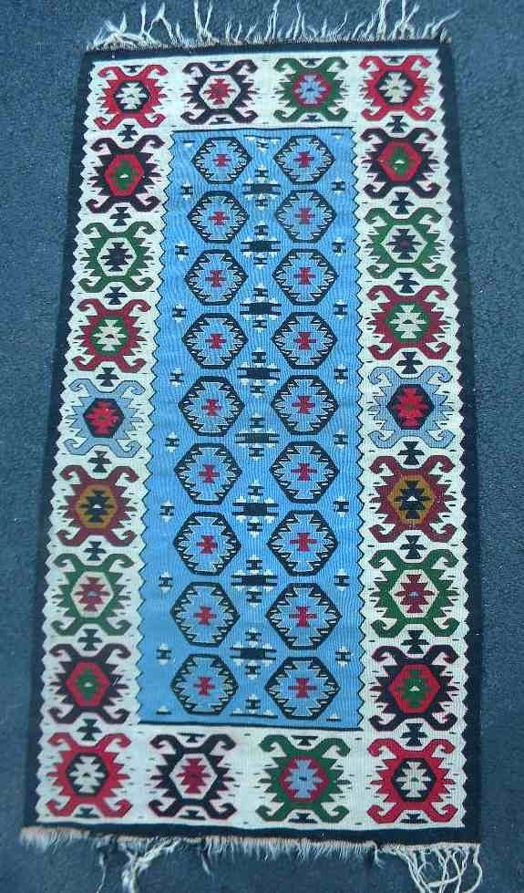 "Tight Weave Indian Rug or Wall Hanging 48"" x 25"""
