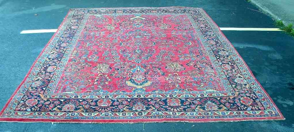 "Estate Fresh Antique Sarouk Oriental Rug 136"" x 110"""