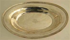 Tiffany  Co STERLING SILVER Serving Basket 1113 Oz