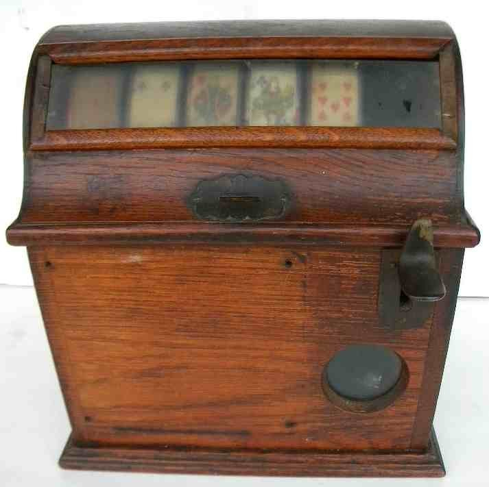 Mills Oak Case 5 Card Poker TRADE STIMULATOR