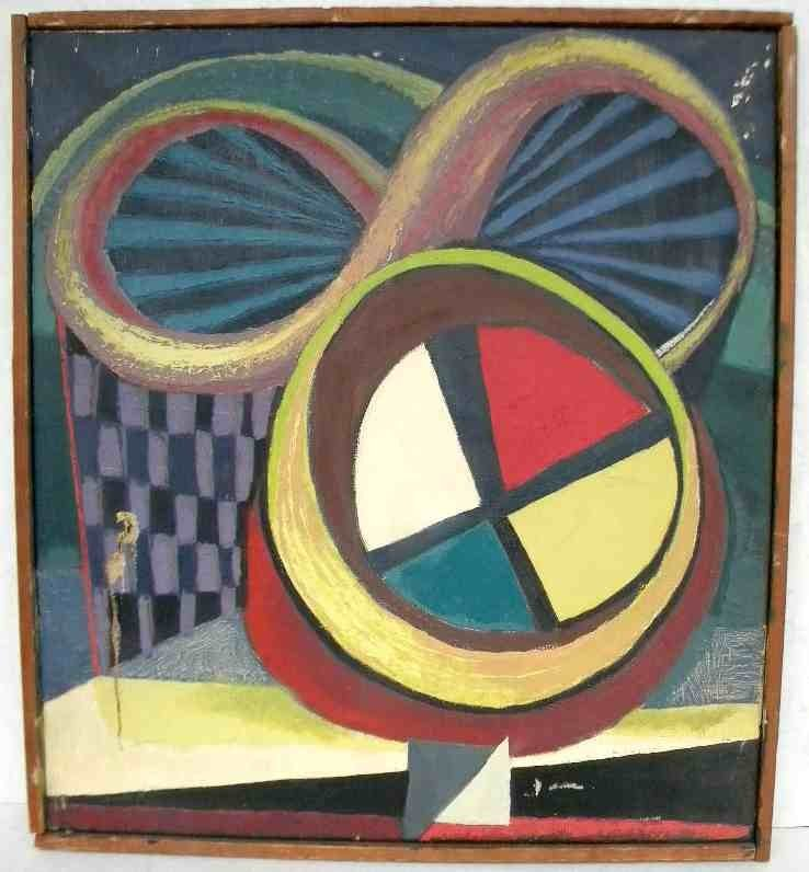 ALFRED STATLER ABSTRACT O/C, UNSIGNED, DIFFERENT
