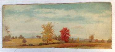 William M Hart oc Fall Landscape Painting most likely