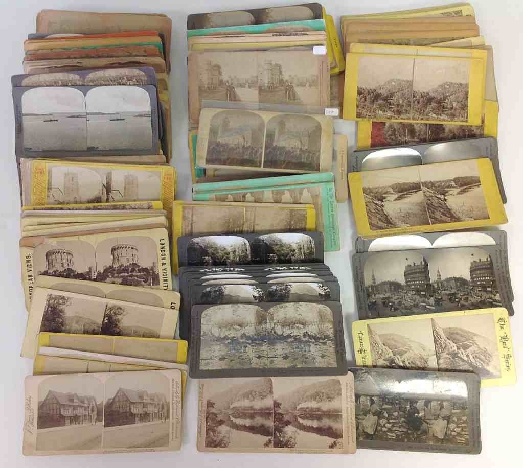 134 Stereo Cards all RP, England, Scotland, Wales,