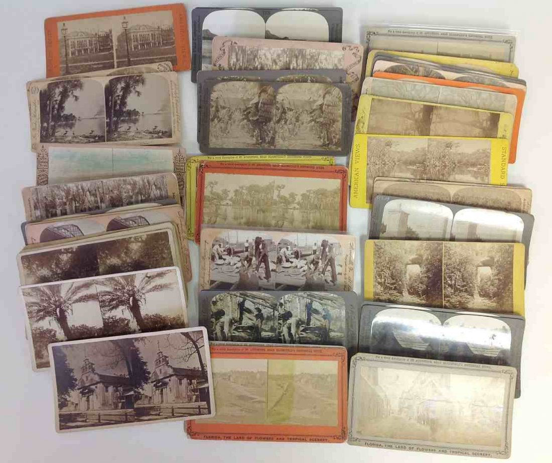 43 Southern Stereo Cards Florida & Georgia, all real