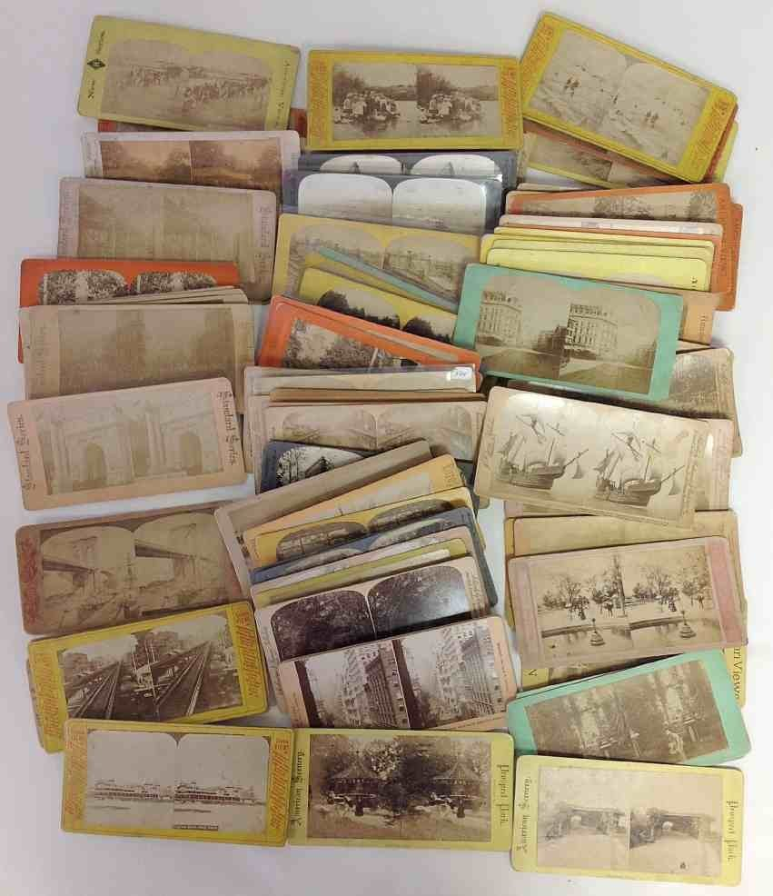 79 New York City Stereo Cards, all Real Photo
