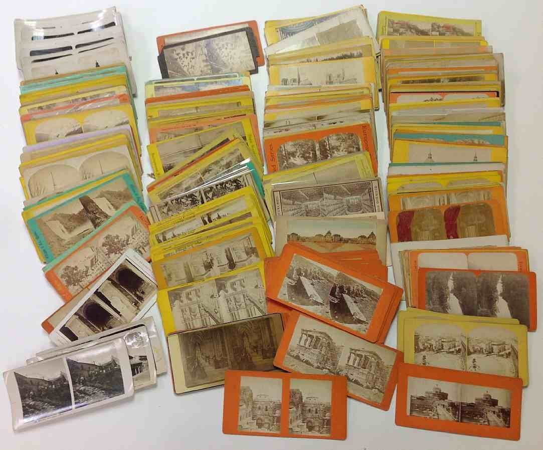 312 European stereo cards, few Canadian, etc.