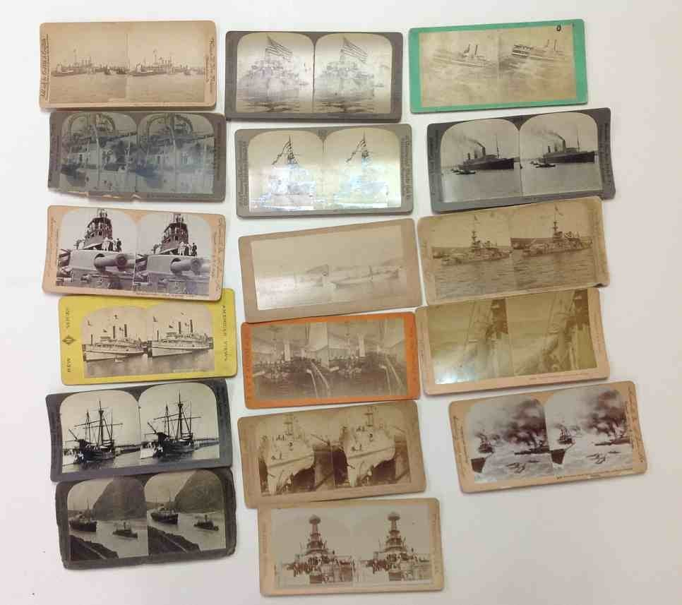 17 Ship Real Photo Stereo Cards